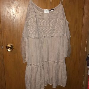 NWT Open Shoulder Hippie Dress